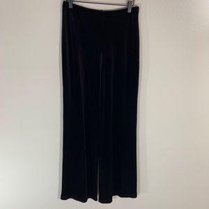 Tadashi Dark Brown Pull on Velvet Pants M